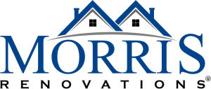 Logo of Morris Renovations Inc in color blue and black