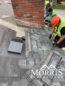 Chimney work that is getting performed by licensed technicians