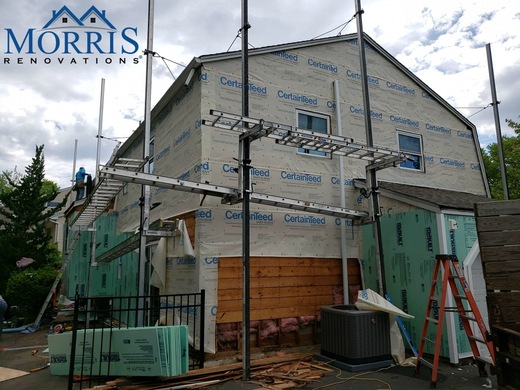 Siding project that is underway